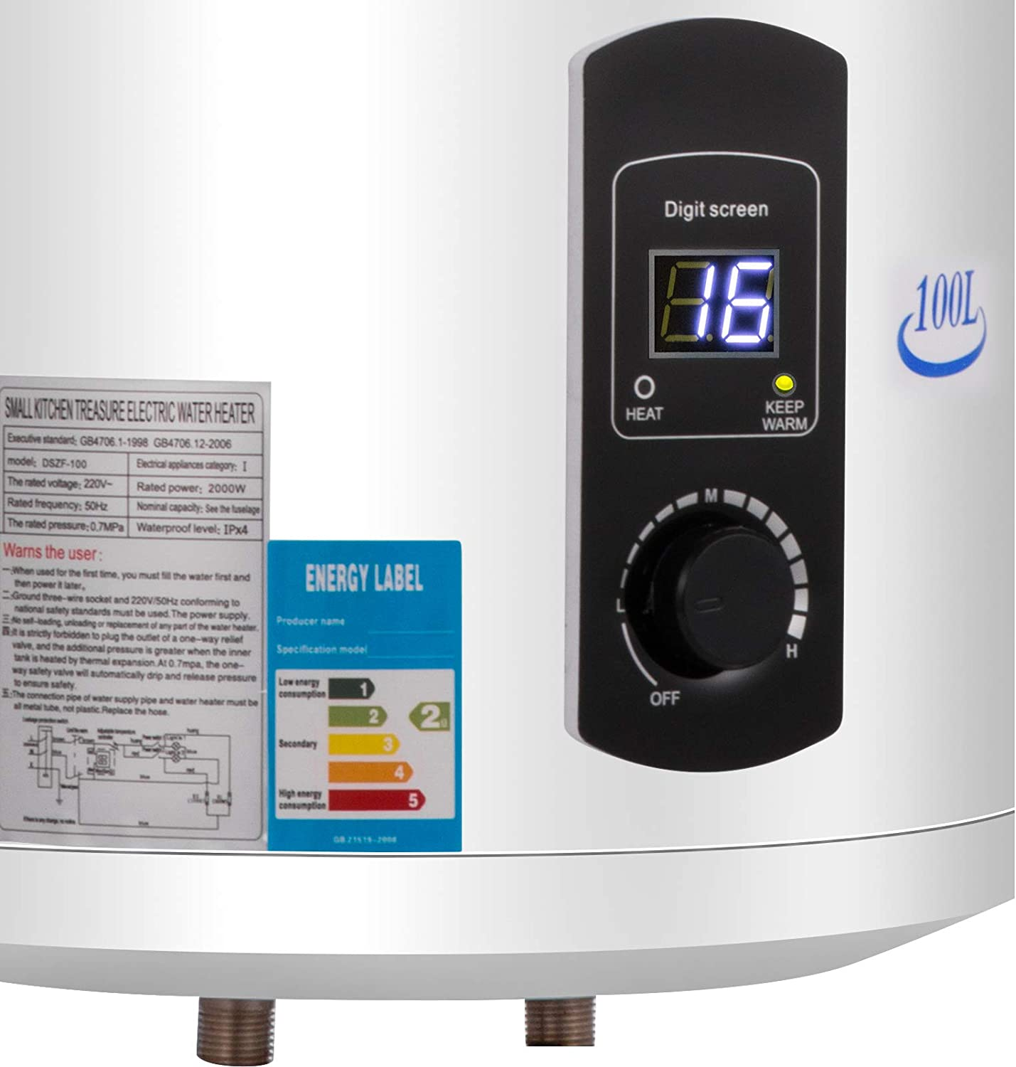 BuoQua 3KW Electric Hot Water Heater