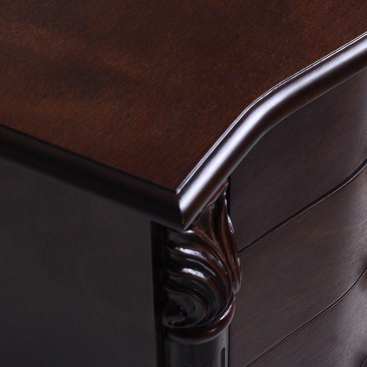 Amazoncom Giantex Wood Jewelry Cabinet Armoire Box Storage Chest