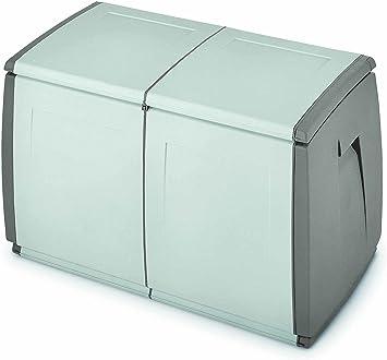 Terry In&out Box 97 Baul Multifuncional con Capacidad 240 litros. Se Puede Utilizar en ambientes internos y externos. Dispone de Dos Ruedas Que facilitan su Desplazamiento, Gris, 97x54x57 cm: Amazon.es: Bricolaje y