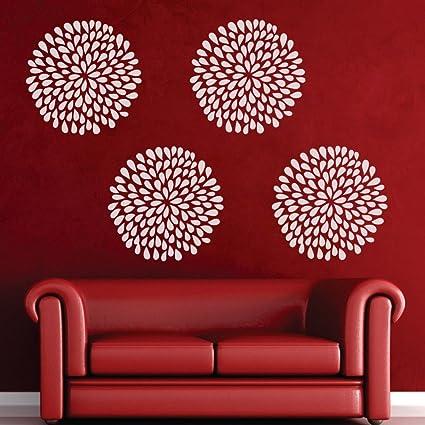 Amazon rain drop flower wall decal flower wall sticker rain rain drop flower wall decal flower wall sticker rain flower wall graphi vinyl home art decoration mightylinksfo