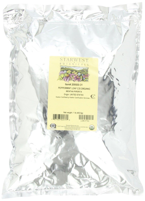 Amazon starwest botanicals peppermint leaf cs organic 1 amazon starwest botanicals peppermint leaf cs organic 1 pound bag health personal care xflitez Images