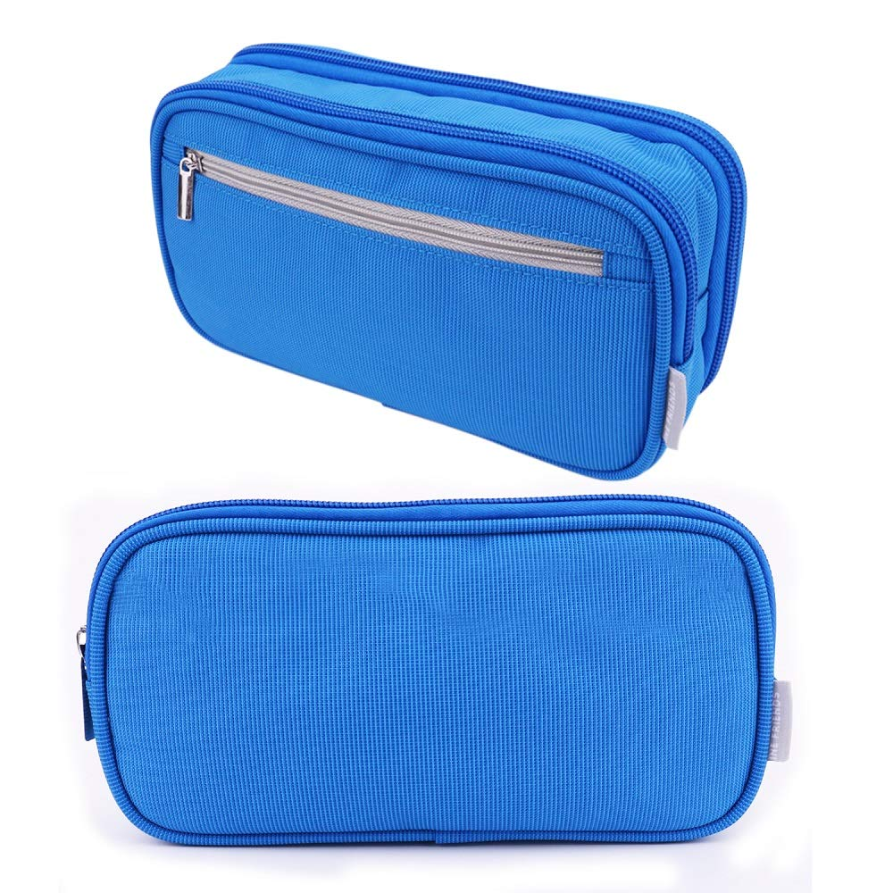 Pencil Case, Large Capacity Pencil Cases Pen Stationery Case Pouch Bag with Big Compartments for School Student Boys Girls and Office, Black Yonzone