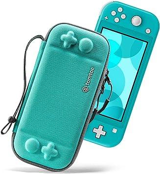tomtoc Funda Ligera para Nintendo Switch Lite, Case Protector Portátil de Transporte de Patente Original Funda Rígida de Almanecimiento de Viaje con 8 Estuchos de Juego y Protección de Nivel Militar: Amazon.es: