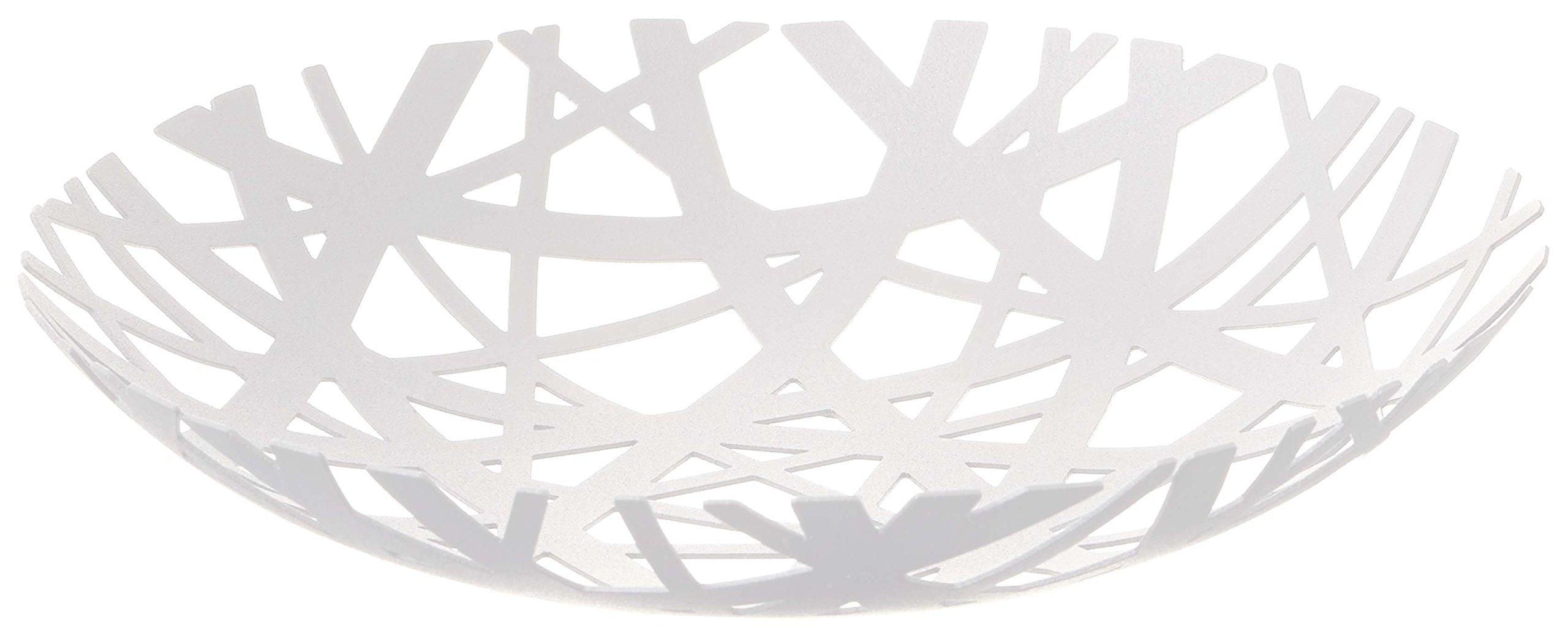 Decorative Centerpiece Bowl in White - Powder-Coated Steel