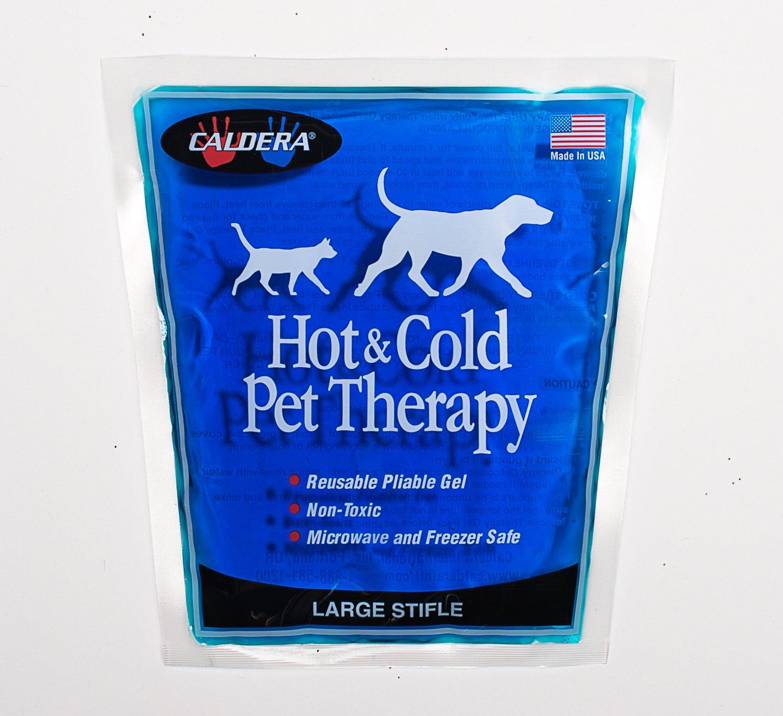 Caldera Pet Therapy Stifle Wrap with Gel, Large, Black