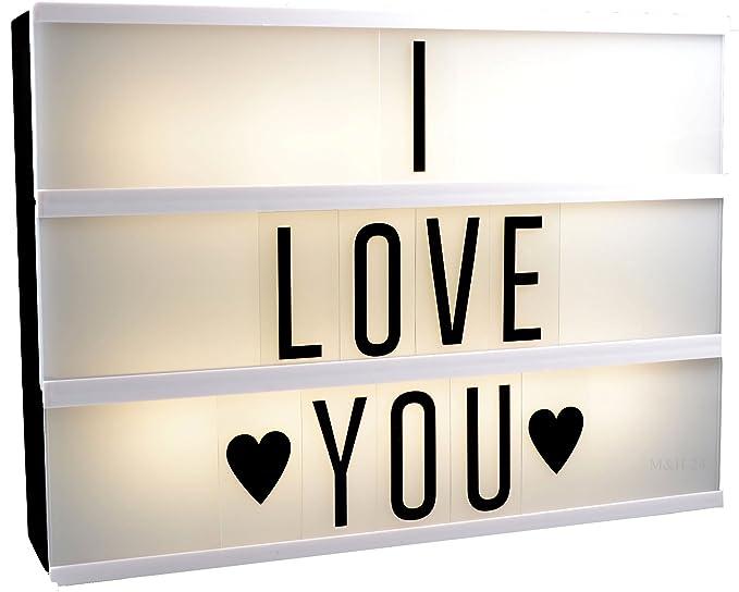 M&H-24 Lightbox - Caja de luz LED con números y letras, de ...