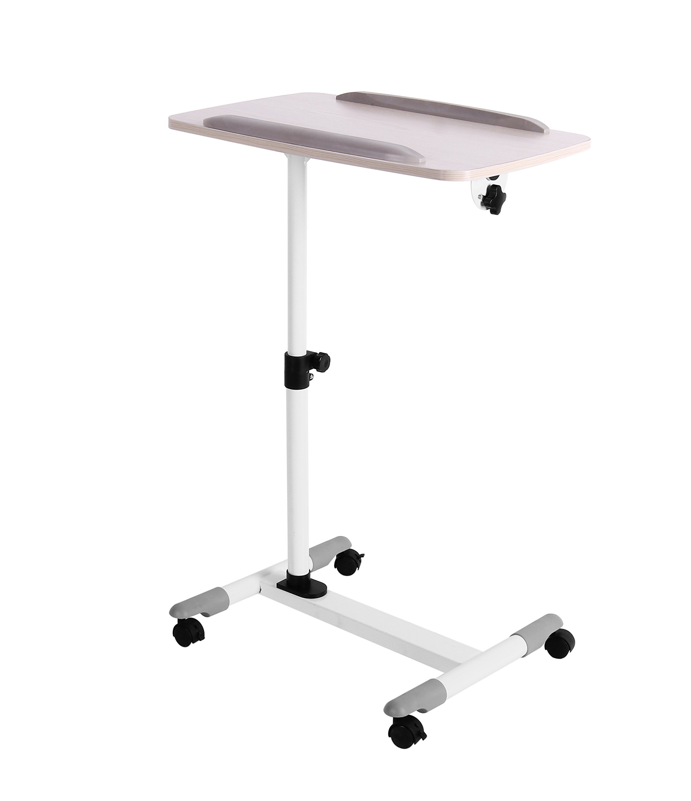 Mobile Laptop Desk Cart Projector Stand Overbed Table Height and Angel Adjustable Portable Computer Laptop Stand.