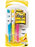 Post-it Flag+ Highlighter, Yellow, Pink, and Blue, 50-Color Coordinated Flags/Highlighter, 3-Pack