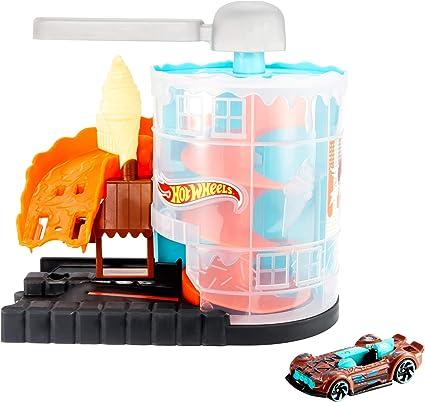 Hot Wheels- Conjunto de Juego Carrera por la heladería (Mattel GJK74): Amazon.es: Juguetes y juegos