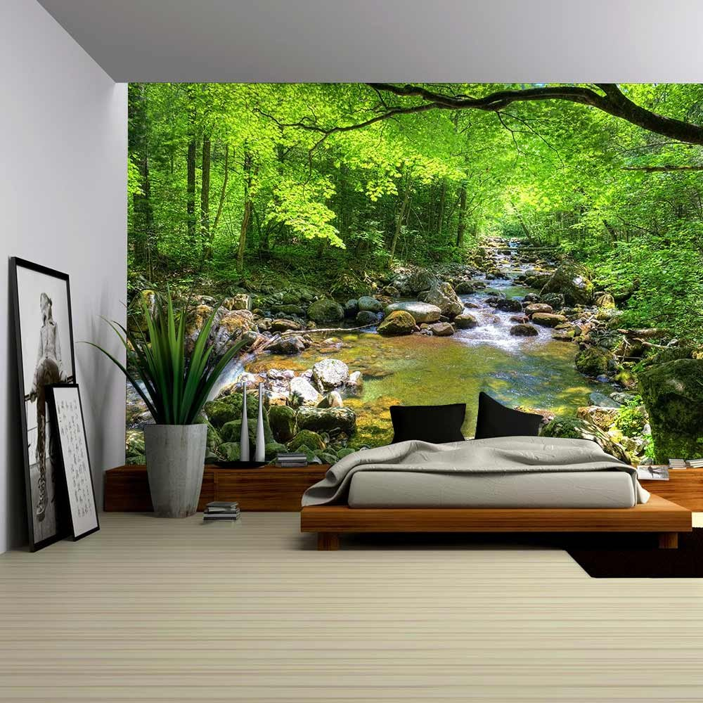 wall26 - Fall Forest Stream Smolny in Russian Primorye Reserve - Removable Wall Mural | Self-adhesive Large Wallpaper - 100x144 inches by wall26 (Image #1)