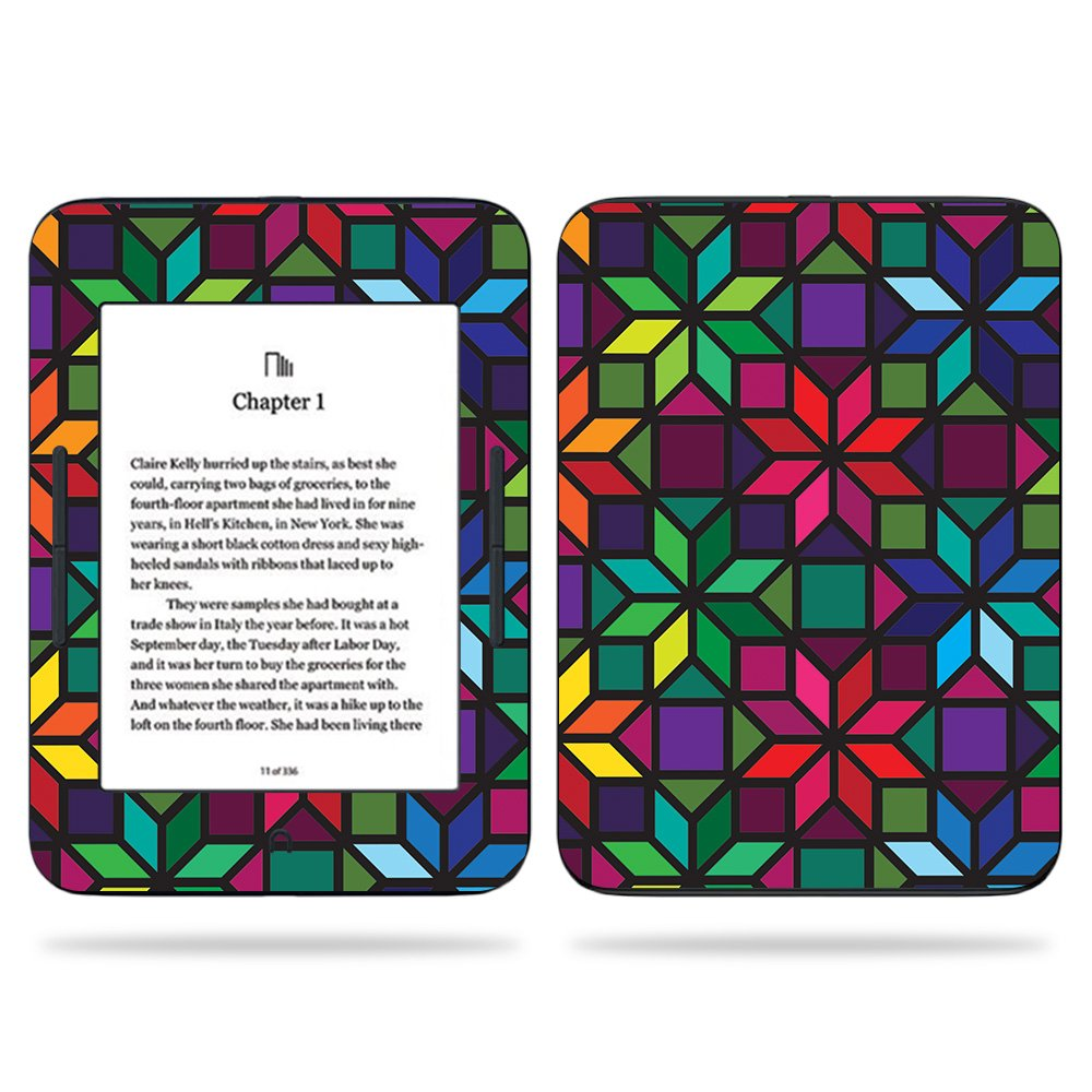 MightySkins Skin For Barnes & Noble NOOK GlowLight 3 (2017) - Stained Glass Window | Protective, Durable, and Unique Vinyl Decal wrap cover | Easy To Apply, Remove, and Change Styles | Made in the USA