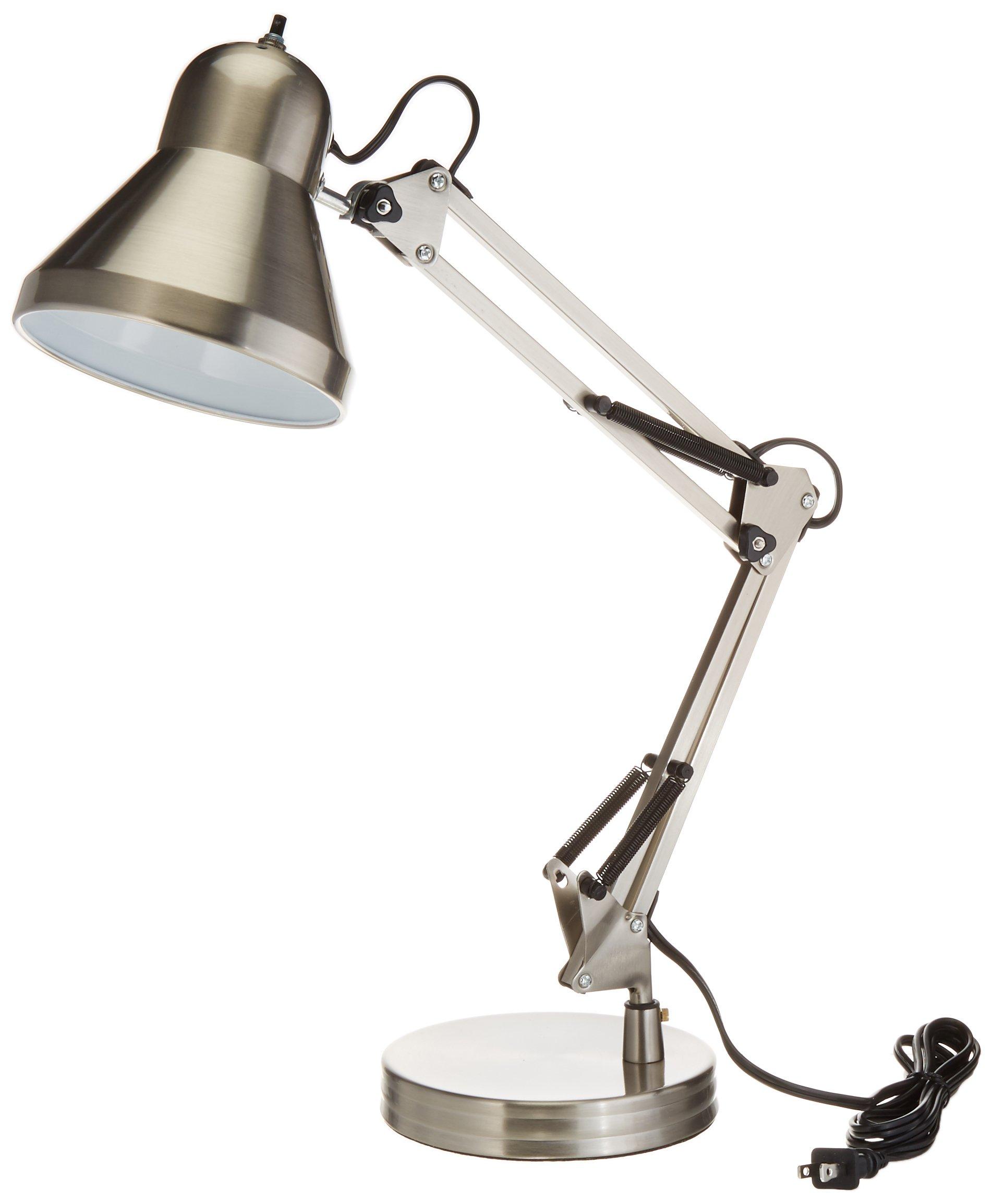 Boston Harbor WK-618E-3L Swing Arm Lamp Holder for Desk Lamp, Brushed Nickel