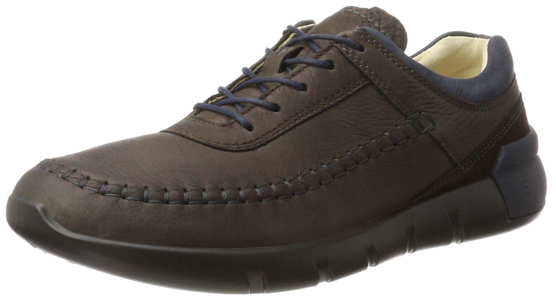 ECCO Men's Cross X Classic Fashion Sneaker, Coffee/Marine/Coffee, 41 M EU/7-7.5 D(M) US