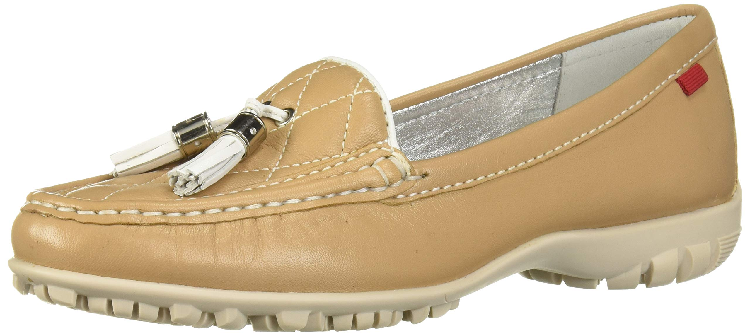 Marc Joseph New York Women's Womens Genuine Leather Made in Brazil Wall Street Golf Shoe Athletic Shoe, Sand nappa/White, 8.5 M US by MARC JOSEPH NEW YORK