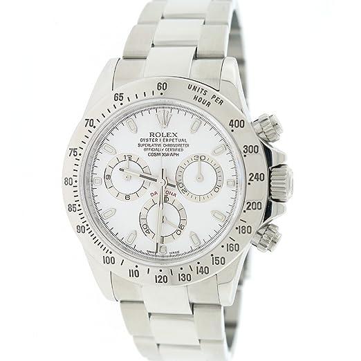 Rolex Daytona automatic-self-wind 116520 - Reloj para hombre (Certificado) de segunda mano: Rolex: Amazon.es: Relojes
