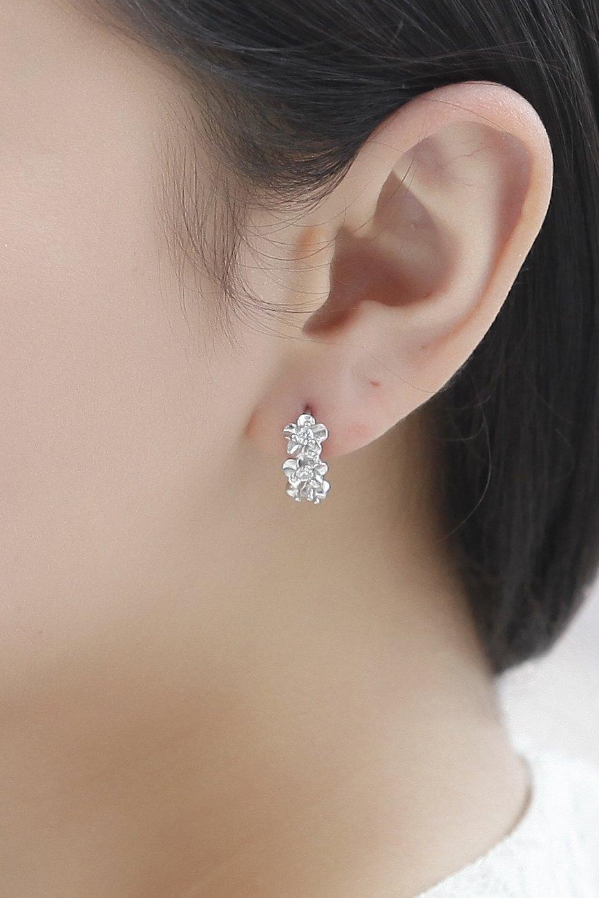 Thai Love Blossoming Flower Earrings earings Dangler Eardrop Ear Buckle Korean Women Girls s925 Silver Earrings Personalized Gift