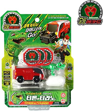 Dino Mecard Capture Car  ARCHEAN /& TRICERA Tinysaur Egg Capsule car toy