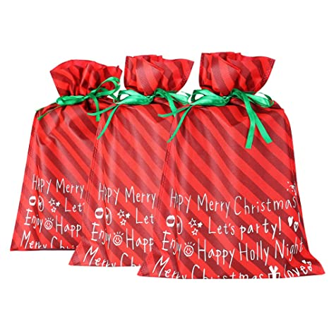 0729094adff2f Amazon.com: MissShorthair Christmas Bags Large (3 Bags): Home & Kitchen