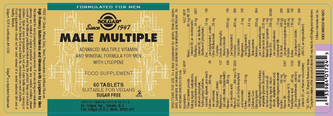 Solgar Male Multiple - 60 Tabletas