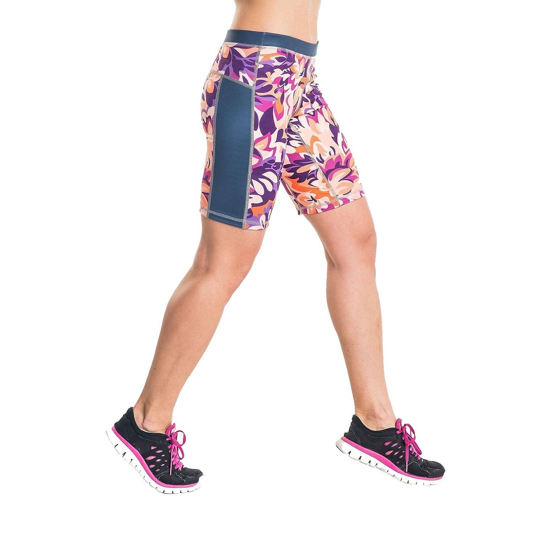 Nessi Collant de Course courte Leggings oskk Fitness Pantalon Short Violet  Flowers aaa5f50c49e