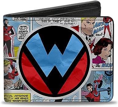 Multicolor 4.0 x 3.5 Buckle-Down Mens Bifold Wallet Deadpool