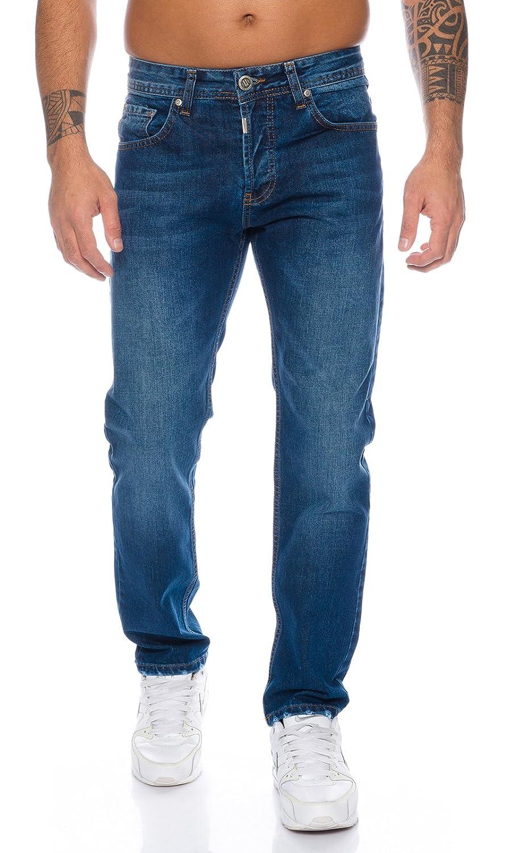 Lorenzo Loren Herren Jeans Hose Denim Jeans Used-Look Regular-Fit W29-W44 L30-L38 M17