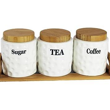 Super Tea Coffee Sugar Canisters - Coffee Drinker LR17