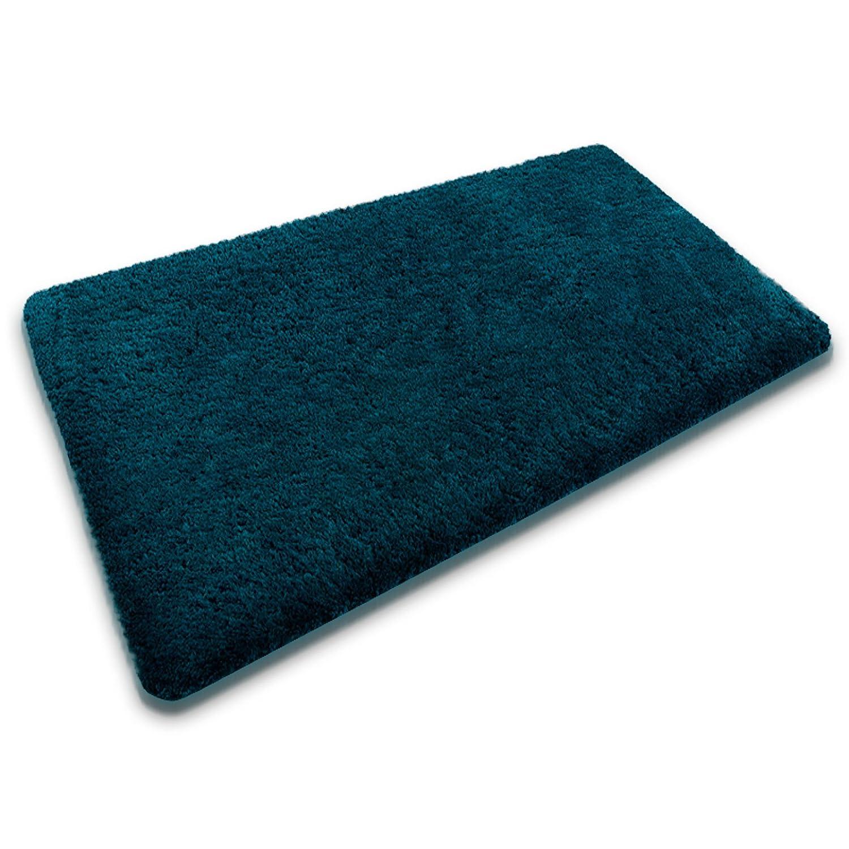 casa pura Bath Mat - Sky Blue | Luxurious Bathroom Rug with Soft Pile | Non-Slip | Machine Washable | 50x80cm - 6