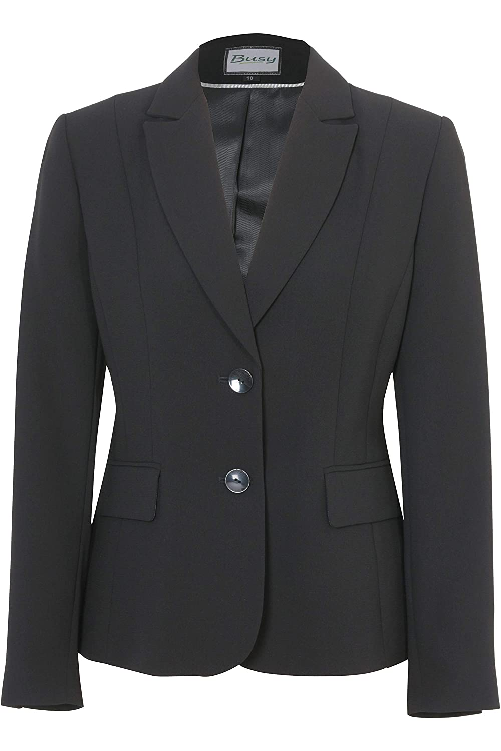 Busy Clothing Womens Black Suit Jacket Black44468