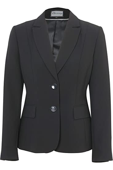 76f474d67d368 Busy Clothing Women Black Suit Jacket: Amazon.co.uk: Clothing