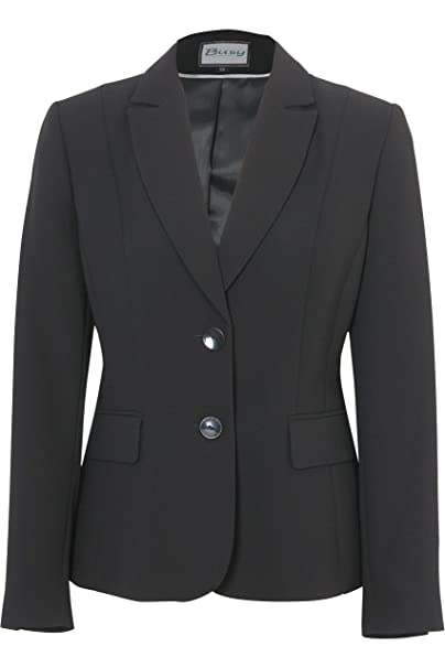 Busy Clothing Women Black Suit Jacket Amazon Co Uk Clothing