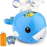 Auney Bubble Machine, Automatic Durable Bubble Blower for Kids, Portable Bubble Maker 2000+ Bubbles Per Minute, Simple and E