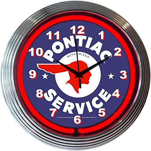 Neonetics Decorative Gm Pontiac Service Neon Wall Clock