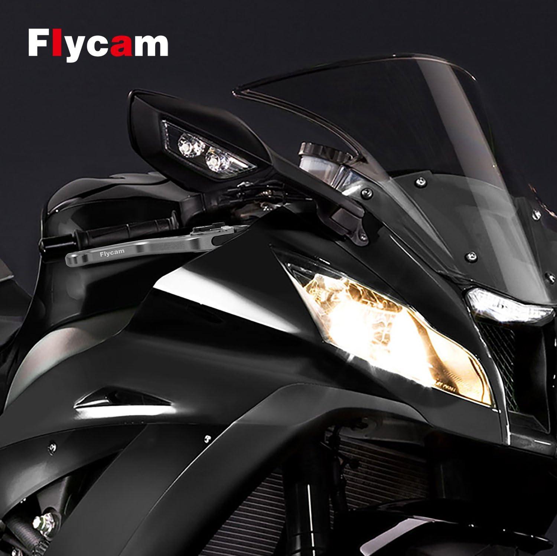 Long Brake /& Clutch Levers Lever Pair Full Black CNC YAMAHA YZF R1 2004-2008