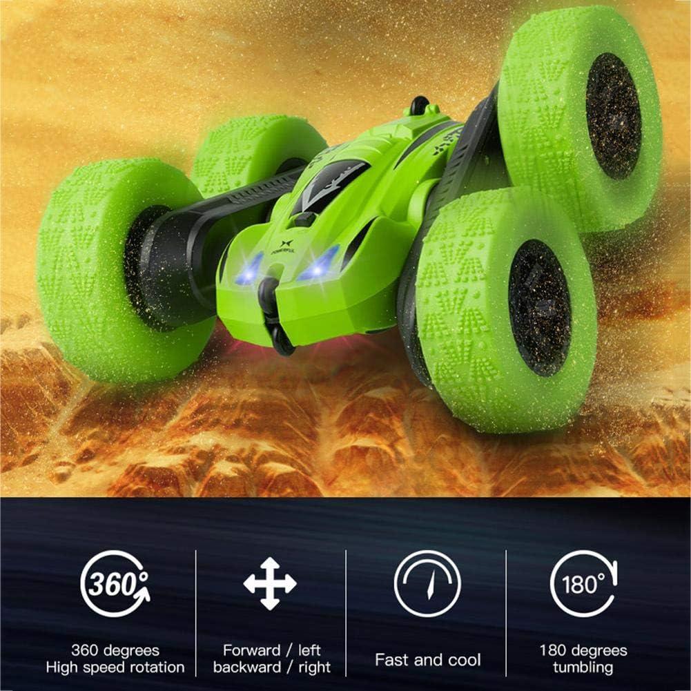 Voiture de course /électrique RC voiture t/él/écommand/ée 2,4 GHz voiture de cascade double face v/éhicule vacillant RC camion tout-terrain avec rotation /à 360 degr/és d/éformation 3D c/âble de chargeme