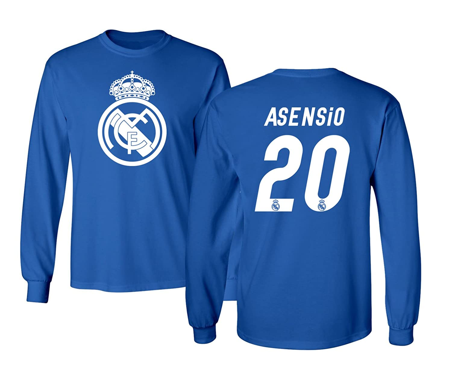 Amazon.com   KING THREADS Real Madrid Marco ASENSIO  20 Jersey Shirt Soccer  Football Men s Long Sleeve T-Shirt   Sports   Outdoors 0beda8af0