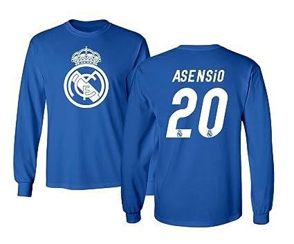 Real Madrid Marco Asensio   20 Fútbol Jersey Camisa playera de manga larga  para hombre f8b932f30b4c2