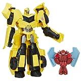 Hasbro B7069ES0 - Transformers - Robots in Disguise Power Heroes Bumblebee und Buzzstrike, Actionfigur