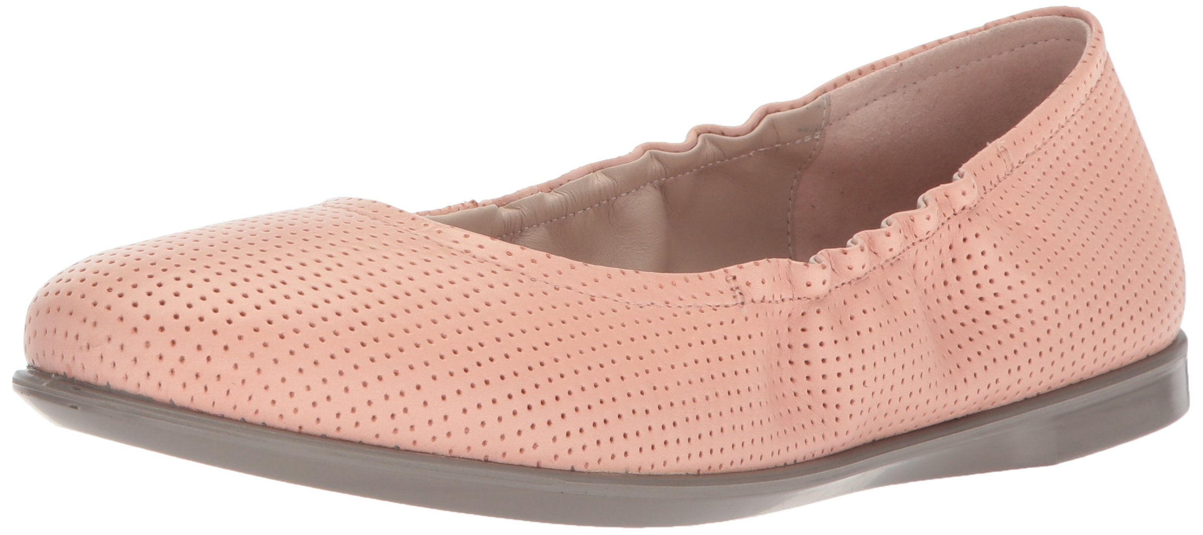 ECCO Women's Women's Incise Enchant Slip On Ballet Flat, Muted Clay, 39 M EU (8-8.5 US)