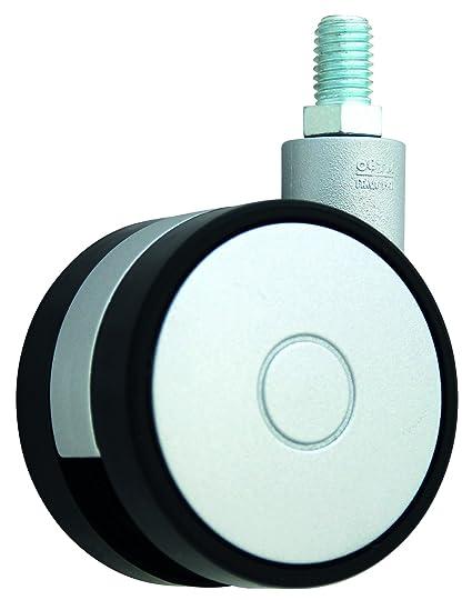 HSI Diseño de Ruedas para muebles (lápiz con rosca M10, plástico, 40 mm