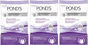 POND'S Evening Soothe Wet Cleansing Towelettes, 28-Count (Pack of 3)
