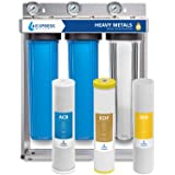 Express Water Heavy Metal Whole House Water Filter – 3 Stage Whole House Water Filtration System – Sediment, KDF, Carbon…