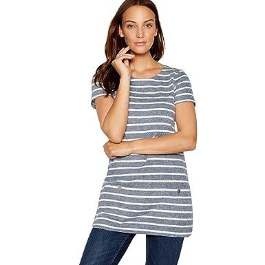 c7d5f59ec9ca9c Mantaray Womens Navy Stripe Knitted Tunic 12: Mantaray: Amazon.co.uk:  Clothing