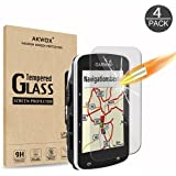[Pack of 4] Tempered Glass Screen Protector for Garmin Edge 520, AKWOX [0.3MM] [9H Hardness] Scratch-resistant Screen Protection for Garmin Edge 520