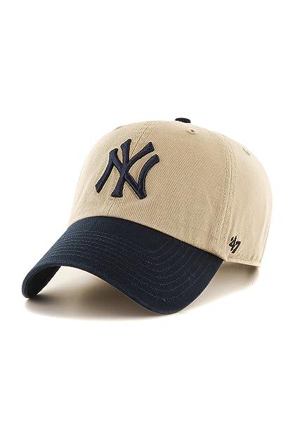 47 Gorras New York Yankees Two Tone Khaki/Navy Adjustable Brand ...