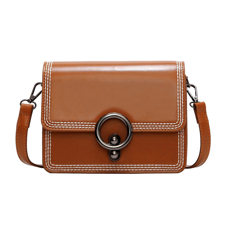Women Leather Crossbody Bag,ACLULION Shoulder Bag Purses Messenger Bags for Traveling Brown