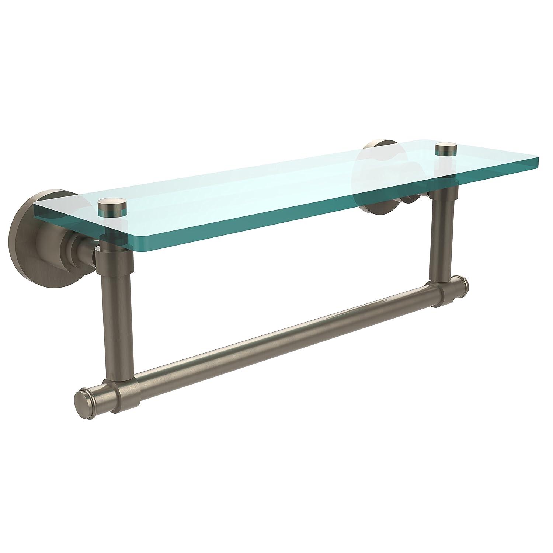 Allied Brass WS-1TB//16-PEW Glass Shelf with Towel Bar 16-Inch x 5-Inch