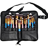 Travelmall Professional 27 tasche pennelli da trucco borsa beauty Artist Storage Brush organizer with Artist Belt strap black