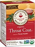 Traditional Medicinals Organic Throat Coat Tea, 16 Tea Bags (Pack of 6)