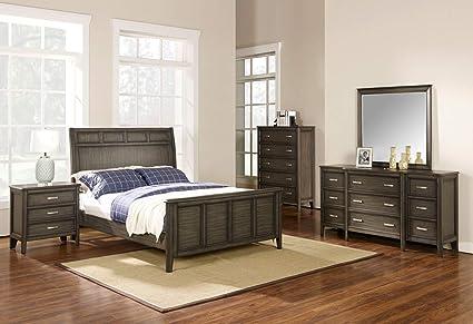 Amazon.com: Discount furniture Richfield Rustic Bedroom Set ...